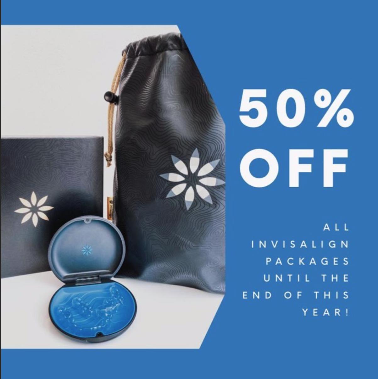 INVISALIGN 50% OFF